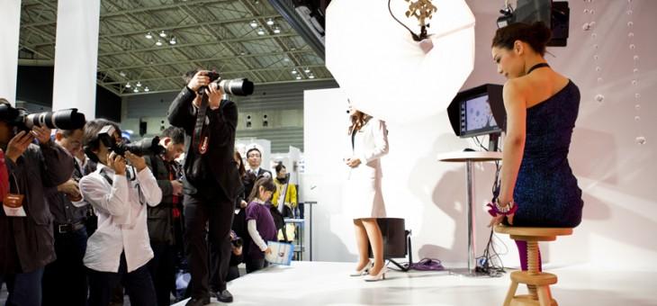 CP+ (写真関連の展示会)でのキヤノンブースでのデモ撮影