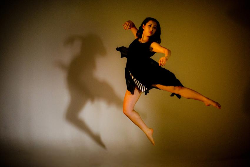 ダンスと振袖写真