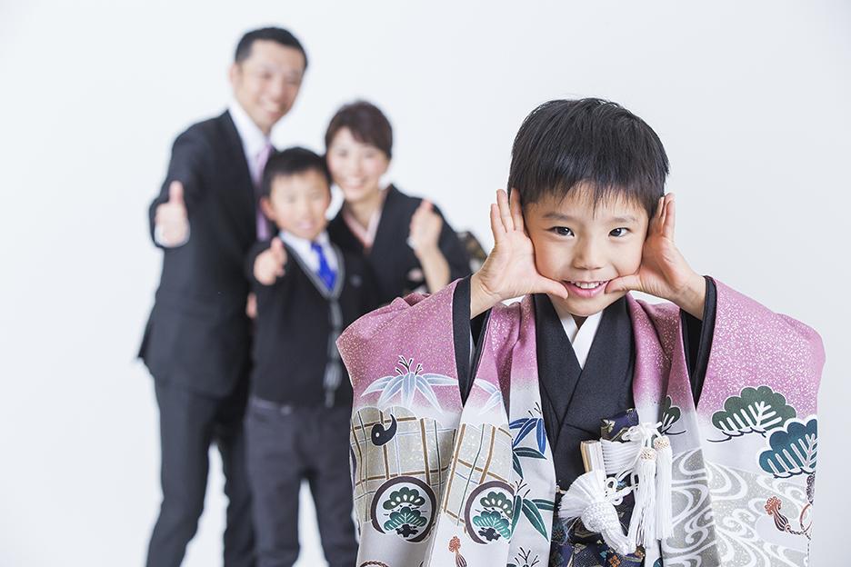 楽しい家族!5歳の記念撮影!