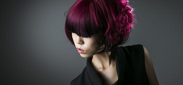 美容学校学生のヘアメイク作品撮り