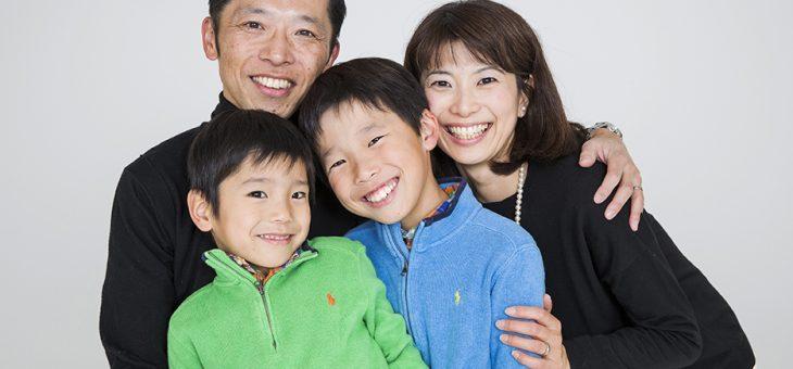 年に一度のご家族の記念撮影