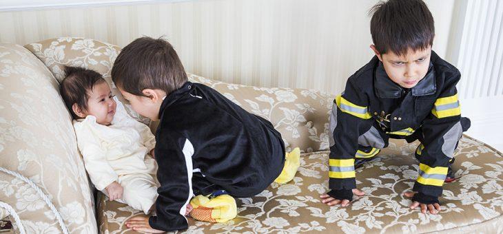 消防士とペンギンの七五三とお宮詣り